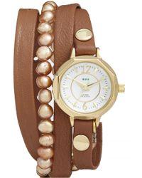 La Mer Collections - Women's Hawaiian 5-7mm Freshwater Pearl Watch - Lyst