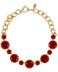 Lauren by Ralph Lauren - Stone Bib Necklace - Lyst