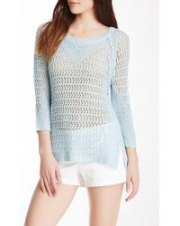 Love Token - Open Knit Sweater - Lyst