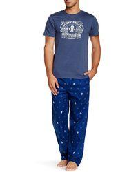 Lucky Brand - Crew Neck Tee & Printed Pant Sleep Set - Lyst