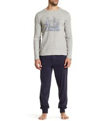 Lucky Brand - Long Sleeve Thermal Crew & Jogger Pant Gift Set - Lyst