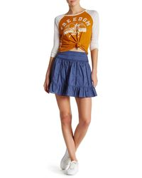 Olive & Oak - High Waist Woven Skirt - Lyst