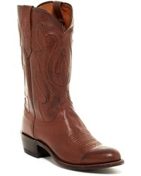 Lucchese - Tan Ranch Hand Boot- Wide Width Available - Lyst