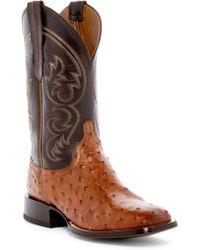 Lucchese - Genuine Ostrich Cowboy Boot - Lyst