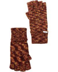 Steve Madden - Heathered Half Finger Gloves - Lyst