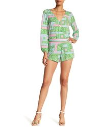 Macbeth Collection - Liquid Jersey Wrap Romper - Lyst