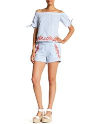 Macbeth Collection - Embroidered Short - Lyst