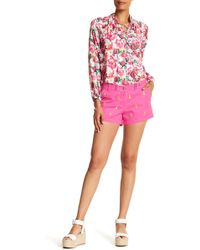 Macbeth Collection - Embroidered Pineapple Short - Lyst