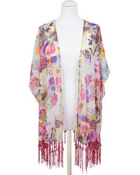 Pia Rossini - Malibu Floral Print Kimono - Lyst