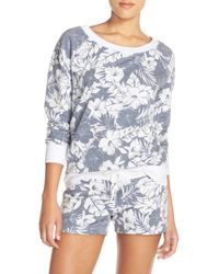 Love+Grace - Floral Print French Terry Sweatshirt - Lyst
