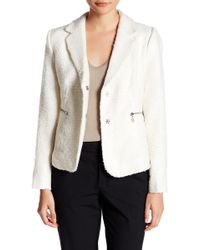Adrienne Vittadini - Notch Collar Jacket (petite) - Lyst