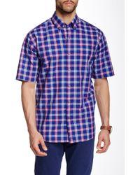Cutter & Buck - Morgan Plaid Short Sleeve Shirt - Lyst