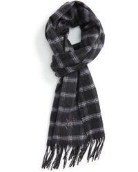 Canali - Windowpane Wool Blend Scarf - Lyst
