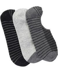 Joe Fresh - Bsc No Shoe Socks - Pack Of 3 - Lyst
