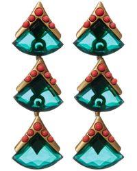 Loren Hope - Geometric Stone Drop Earrings - Lyst