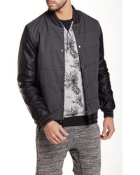 Indigo Star - Chapman Faux Leather Sleeve Jacket - Lyst