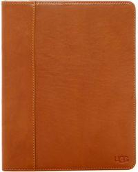 UGG Leather Work Easel Tablet Case - Brown