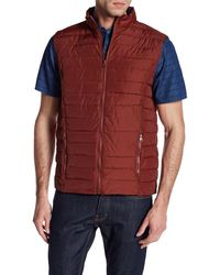 Indigo Star - Remmy Horizontal Quilted Ripstop Vest - Lyst