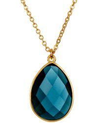 Melinda Maria - Milton London Blue Topaz Teardrop Pendant Necklace - Lyst