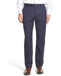Monte Rosso - Flat Front Check Wool Trousers - Lyst