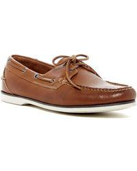 2f718b991b4 Peter Millar - Vintaged Leather Boat Shoe - Lyst