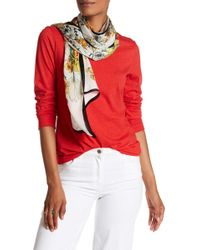 Max Studio - Illustrated Floral Silk Oblong Scarf - Lyst