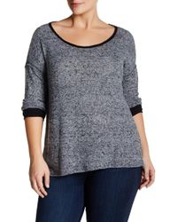 Everleigh - Spacedye Colorblocked Sweater (plus Size) - Lyst