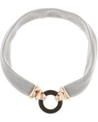 Adami & Martucci - 18k Rose Gold Vermeil Mesh Open Circle Choker Necklace - Lyst