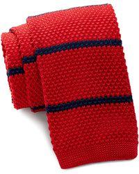 Burma Bibas - Bar Stripe Knit Tie - Lyst