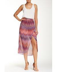 Laundry by Shelli Segal   Printed Maxi Wrap Skirt   Lyst
