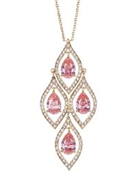 Carolee - Stone Cluster Pendant Necklace - Lyst