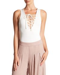 Ark & Co. - Lace Up Bodysuit - Lyst