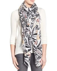 Hinge - 'botanica' Embroidered Scarf - Lyst