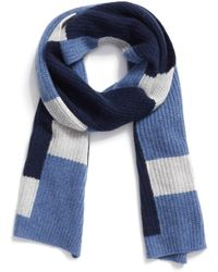 Halogen - Colorblock Knit Cashmere Scarf - Lyst