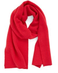 Halogen - Ribbed Cashmere Muffler - Lyst