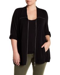 Cable & Gauge - Roll Sleeve Knit Jacket (plus Size) - Lyst