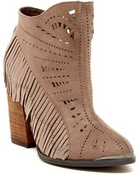 Not Rated - Fierce Fringe Bootie - Lyst