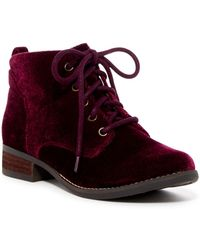 Not Rated - Maddian Velvet Bootie - Lyst