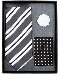 Bristol & Bull - Black Multi Tie Silk Set - Lyst