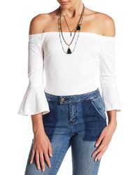 Ark & Co. - Off-the-shoulder Bodysuit - Lyst