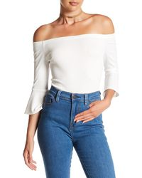Ark & Co. - Off-the-shoulder Ribbed Bodysuit - Lyst