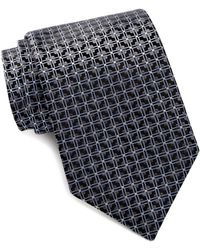 David Donahue - Chequered Square Silk Tie - Lyst