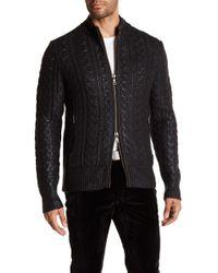 John Varvatos | Sheen Cable Knit Sweater | Lyst