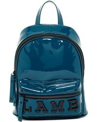 L.A.M.B. - Imen Patent Leather Backpack - Lyst