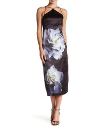 Phoebe - Floral Pencil Midi Dress - Lyst