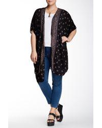 Angie - Short Sleeve Kimono (plus Size) - Lyst