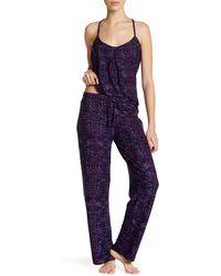 Steve Madden - Printed Jersey Knit Sleep Pant - Lyst