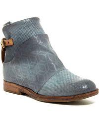A.s.98 - Paddington Textured Leather Bootie - Lyst
