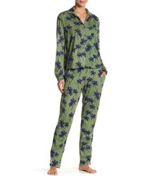 Love+Grace - Heidi Palm Tree Pajama Set - Lyst