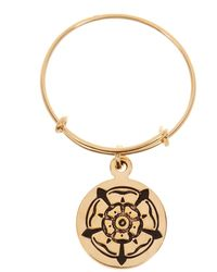 ALEX AND ANI - 14k Gold Filled Rose Of The Blessed Mother Charm Wire Ring - Lyst